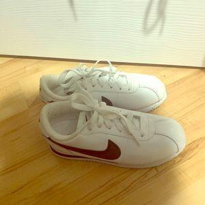 Nike black and white Cortez